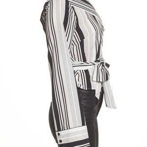 Lush Tops - NWT Lush One-Shoulder Tie Waist Shirt Plus XXL
